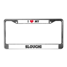 I Love (Heart) My Sloughi License Plate Frame