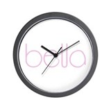 Bella pink Wall Clock