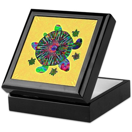 Colorful Sea Turtle Keepsake Box
