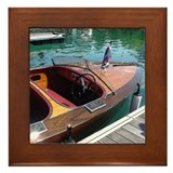 Chris-Craft Wooden Runabout Framed Tile