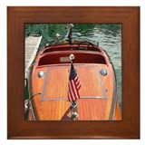 Chris-Craft Wooden Runabouts Framed Tile