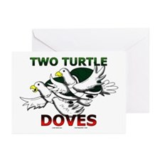 Two Turtle Doves Greeting Cards (Pk of 10)