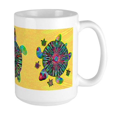 Colorful Sea Turtle Large Mug
