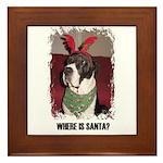 WHERES SANTA? GREAT DANE  Framed Tile