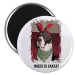 WHERES SANTA? GREAT DANE Magnet
