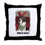 WHERES SANTA? GREAT DANE  Throw Pillow