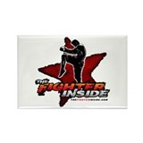 TheFighterInside.com Rectangle Magnet
