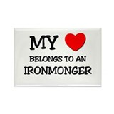 My Heart Belongs To An IRONMONGER Rectangle Magnet