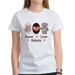 Peace Love Robots Women's T-Shirt