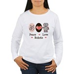 Peace Love Robots Women's Long Sleeve T-Shirt
