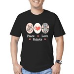 Peace Love Robots Men's Fitted T-Shirt (dark)