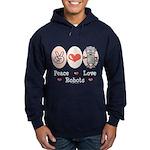 Peace Love Robots Hoodie (dark)