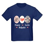 Peace Love Robots Kids Dark T-Shirt