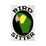 Bird Sitter Rectangle Magnet