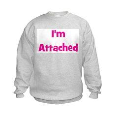 I'm Attached - Multiple Color Kids Sweatshirt
