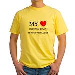 My Heart Belongs To An IMMUNOPATHOLOGIST Yellow T-