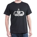 Parachutist Black T-Shirt