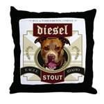 Diesel Pit Bull Stout Throw Pillow