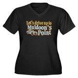 Muldoon's Point Women's Plus Size V-Neck Dark T-Sh