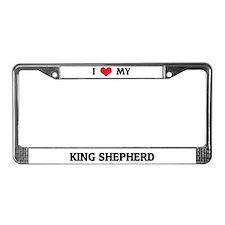 I Love My King Shepherd License Plate Frame