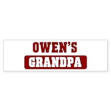 Owens Grandpa Bumper Bumper Sticker