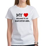 My Heart Belongs To An ELEVATOR GIRL Tee