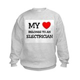 My Heart Belongs To An ELECTRICIAN Sweatshirt