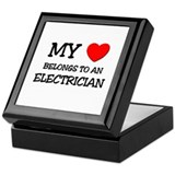 My Heart Belongs To An ELECTRICIAN Keepsake Box