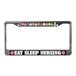 Eat Sleep Nursing License Plate Frame