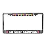 Eat Sleep Stamping Crafts License Plate Frame