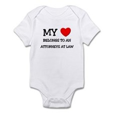 My Heart Belongs To An ATTORNEYS AT LAW Infant Bod