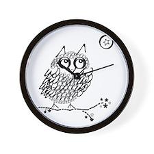 Funny Owl limb Wall Clock