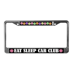 Eat Sleep Car Club License Plate Frame