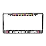 Eat Sleep Metal Detecting License Plate Frame