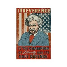 Mark Twain Irreverence Rectangle Magnet (10 pack)