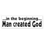 in the beginning Bumper Sticker (50 pk)