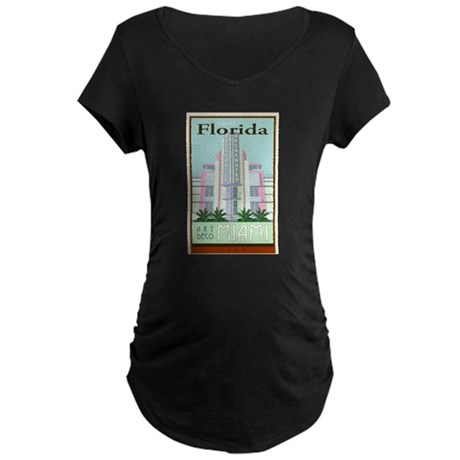 Travel Florida Maternity Dark T-Shirt