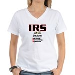 The IRS Women's V-Neck T-Shirt