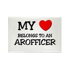 My Heart Belongs To An AROFFICER Rectangle Magnet