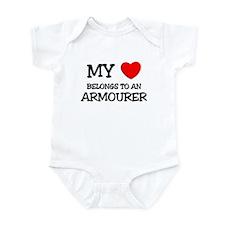 My Heart Belongs To An ARMOURER Infant Bodysuit