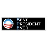Obama = Best President Ever Bumper Sticker 50 Pack