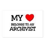 My Heart Belongs To An ARCHIVIST Postcards (Packag