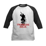 Trombone Ninja Kids Baseball Jersey