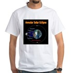 Annular Solar Eclipse - 1, White T-Shirt