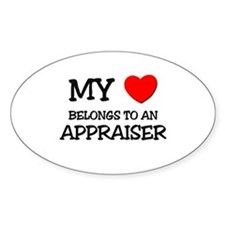 My Heart Belongs To An APPRAISER Oval Decal