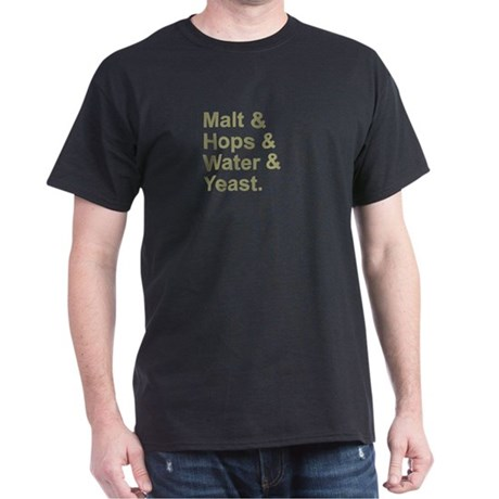 Malt, Hops, Water & Yeast Dark T-Shirt