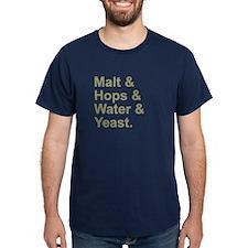 Malt, Hops, Water & Yeast T-Shirt