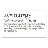 Zymurgy Definition Rectangle Decal