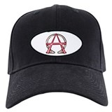 Alpha & Omega Anarchy Symbol Baseball Hat