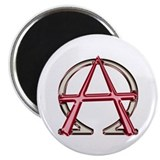 Alpha & Omega Anarchy Symbol 10 Round Magnets